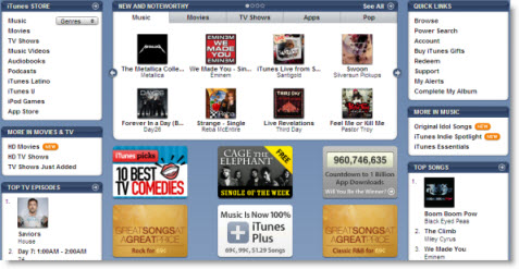 buy music from iTunes store