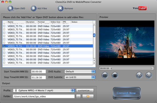 Convert DVD to Mobile Phone on Mac