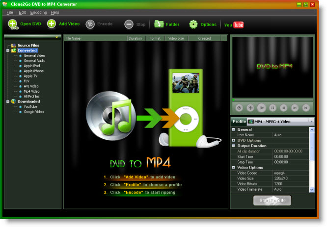 Convert DVD to MP4, MP4 video converter, DVD video to MP4