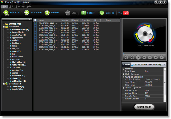 how to rip audio from a DVD to MP3, WMA, OGG, WAV, M4A