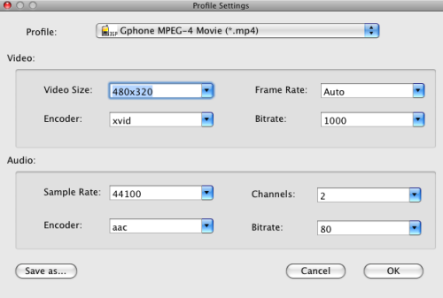 Convert MKV to 3GP on Mac