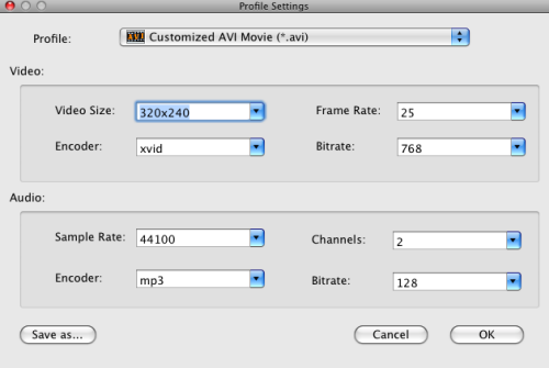 Convert MKV to AVI on Mac