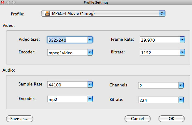 Convert WMV to MPG on Mac